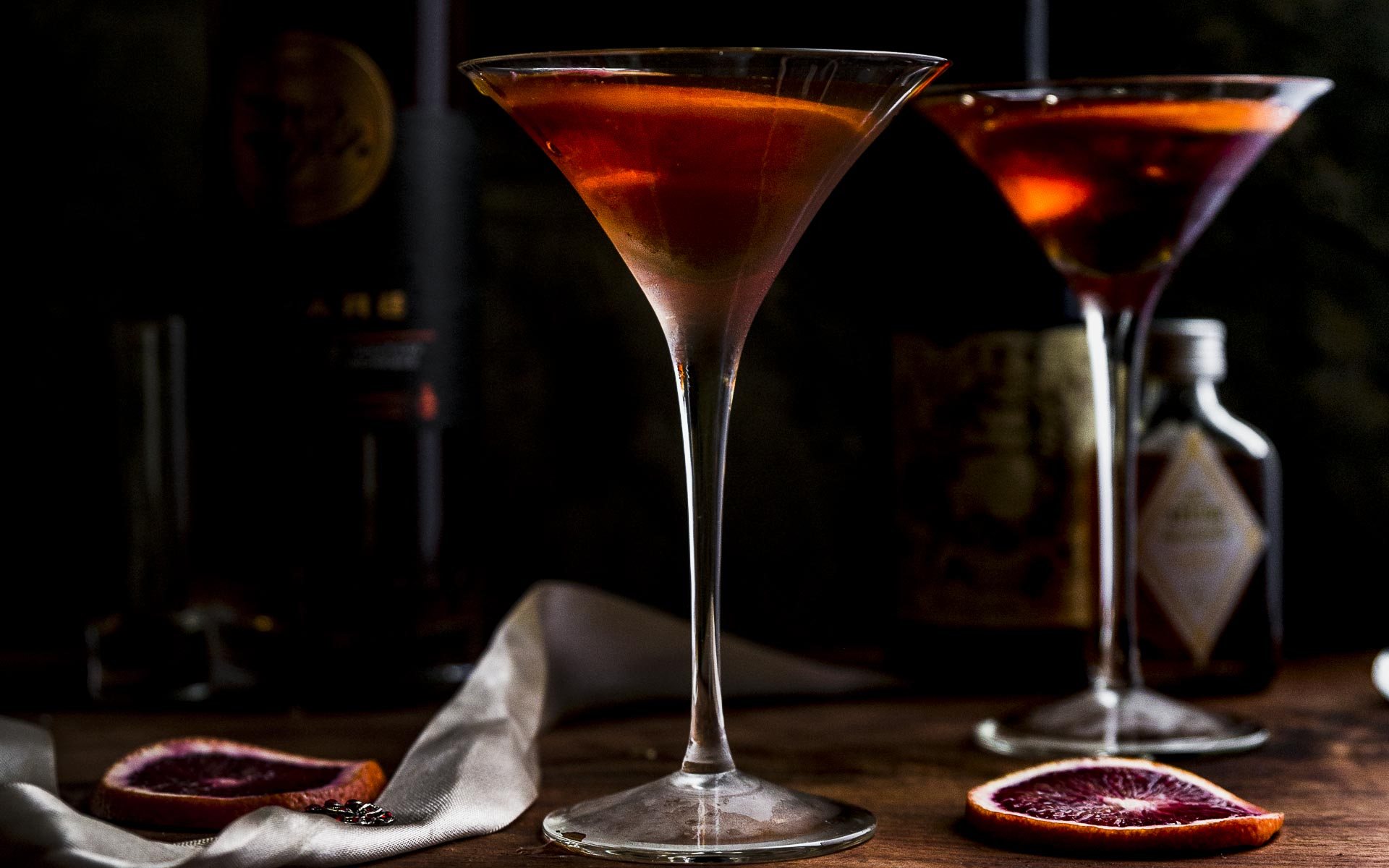 brandy manhattan cocktails for two