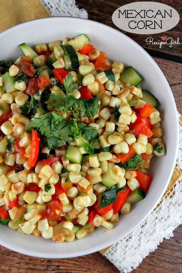 Mexican Corn #recipe - RecipeGirl.com
