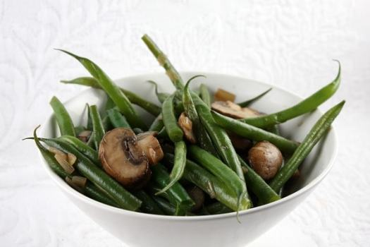 Green Beans with Mushrooms and Shallots - recipe from RecipeGirl.com