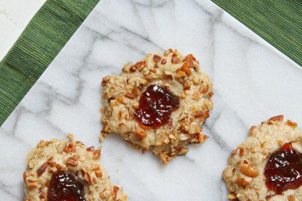 Red Currant Thumbprint Cookies recipe - from RecipeGirl.com