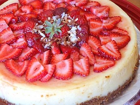 Strawberry Coconut Cheesecake