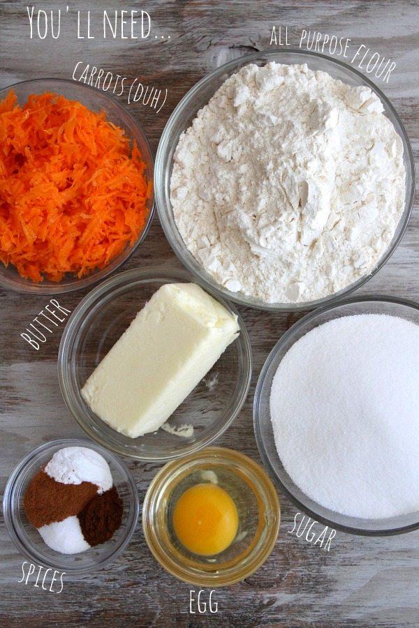 Carrot Cake Cookies Prep 1