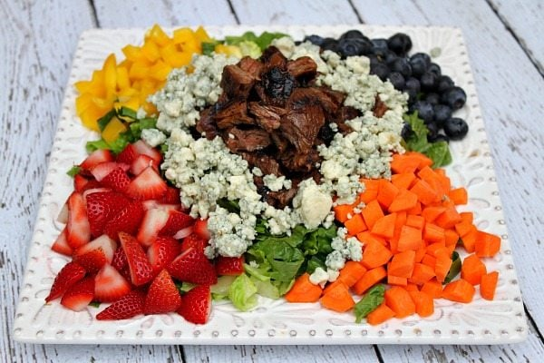 Grilled Steak Chopped Summer Salad - RecipeGirl.com