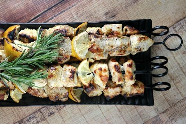 Rosemary Lemon Chicken Skewers