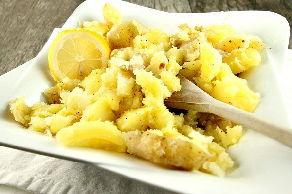 Lemon Smashed Potatoes
