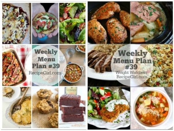 Weekly Menu Plans 39