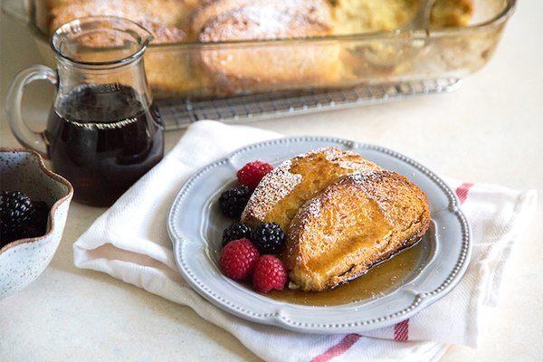 Eggnog French Toast Casserole recipe - by RecipeGirl.com