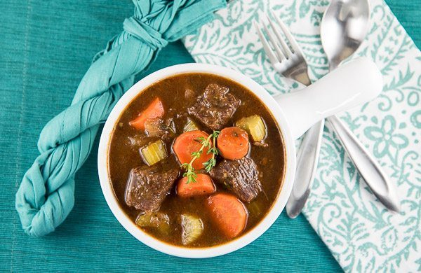 Classic Beef and Guinness Stew recipe - from RecipeGirl.com