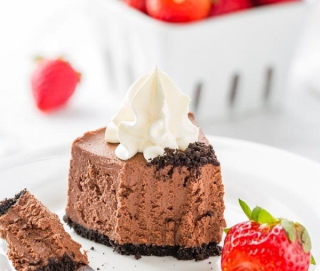Bite Of No Bake Baileys Chocolate Cheesecake
