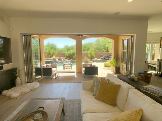 View to the backyard in Scottsdale Home Remodel