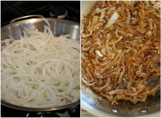 making caramelized onions