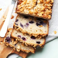 Blueberry Almond White Chocolate Banana Bread