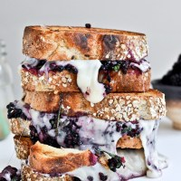 Grilled Fontina and Blackberry Basil Smash Sandwiches