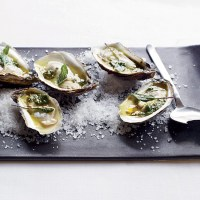 Grilled Oysters with Spiced Tequila Butter