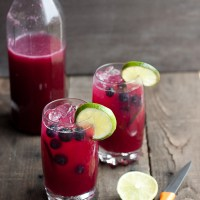 Blueberry Limeade Cocktail