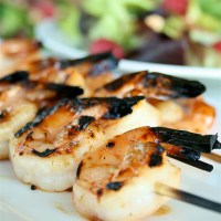 Grilled Honey Garlic Shrimp