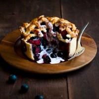 Blueberry Rhubarb Deep Dish Pie