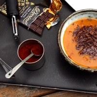 Pumpkin Soup with Chocolate and Chipotle