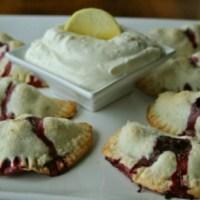 Blueberry Breakfast Pies with Lemon Cream Cheese Dip