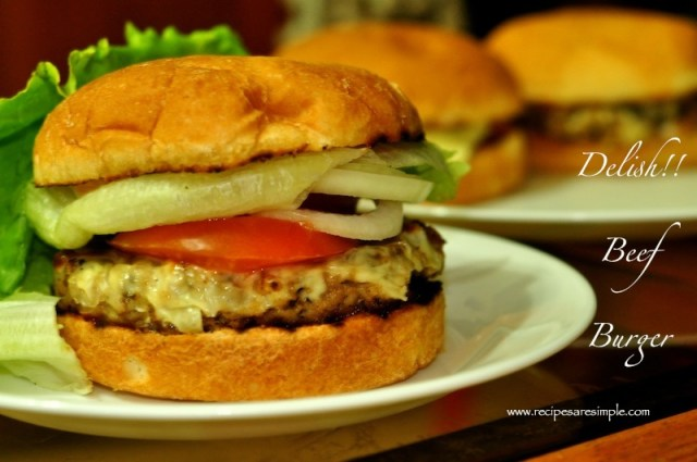Beef Burger with Mushrooms Recipe