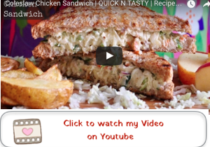 coleslaw chicken sandwich youtube video