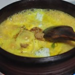 Prawns Curry with Green Mango - Konju Mango Curry - coriander powder