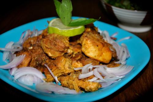Basil Chicken Tandoor Style