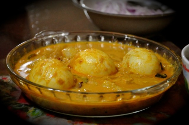 Egg Curry with coconut or coconut milk