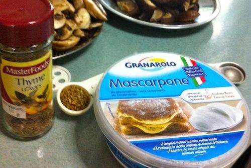 Add Mascarpone Cheese.