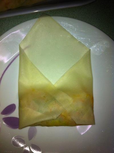 Fold like envelope