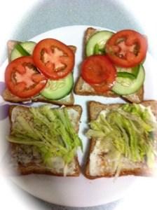 To Assemble Veg Sandwich