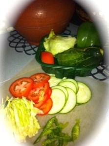 Veg Sandwich Ingredients