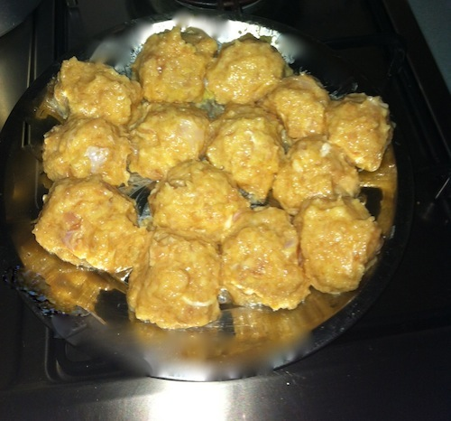 Prepare Mince Ingredients and Form into balls