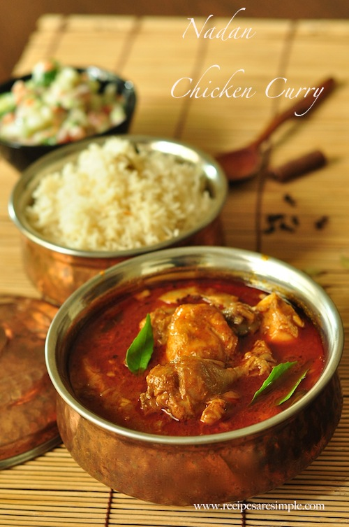 Nadan Chicken Curry Kerala Chicken Curry