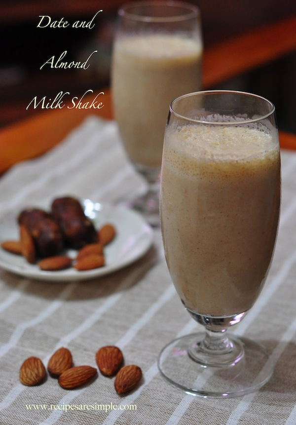 date and almond shake