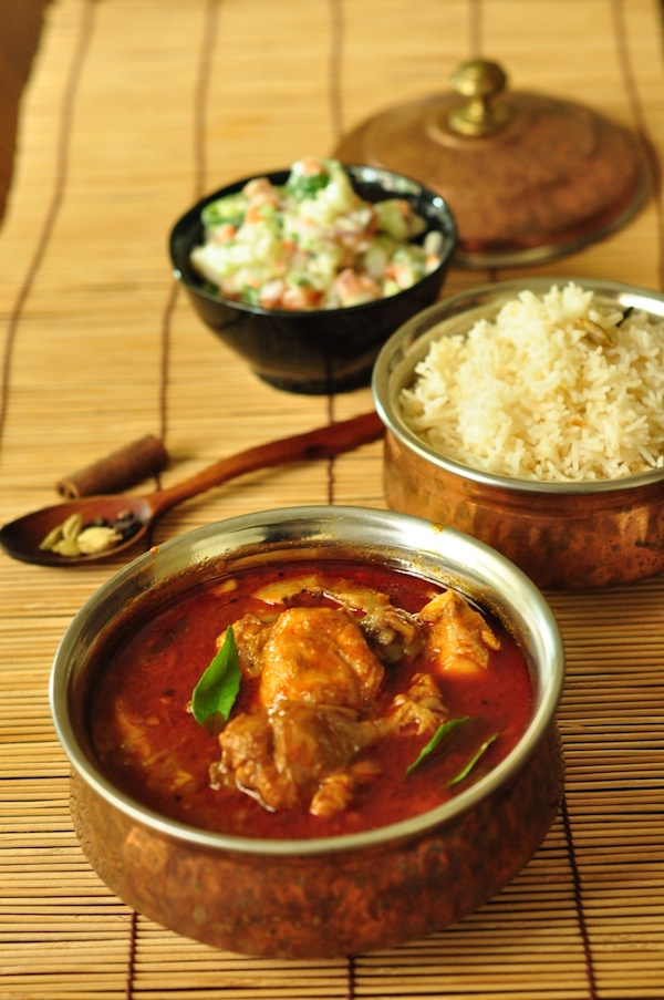 Nadan Chicken Curry Kerala Chicken Curry - serve with rice