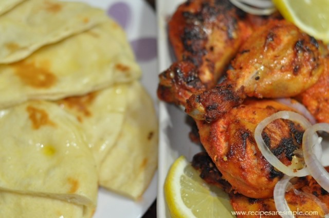 Home Made Naan and Tandoori Chicken