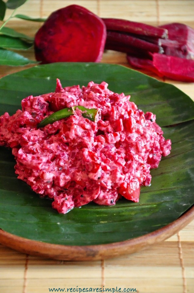 beetroot pachadi kerala recipe