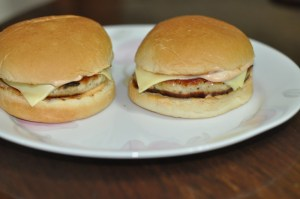 Home made chicken burger buns With cheese