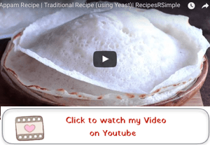 appam recipe youtube video