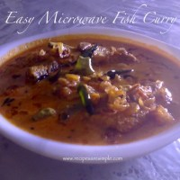 easy microwave fish curry