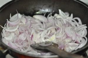 Kerala Egg Roast - saute onion