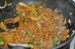 KERALA egg roast - saute spices