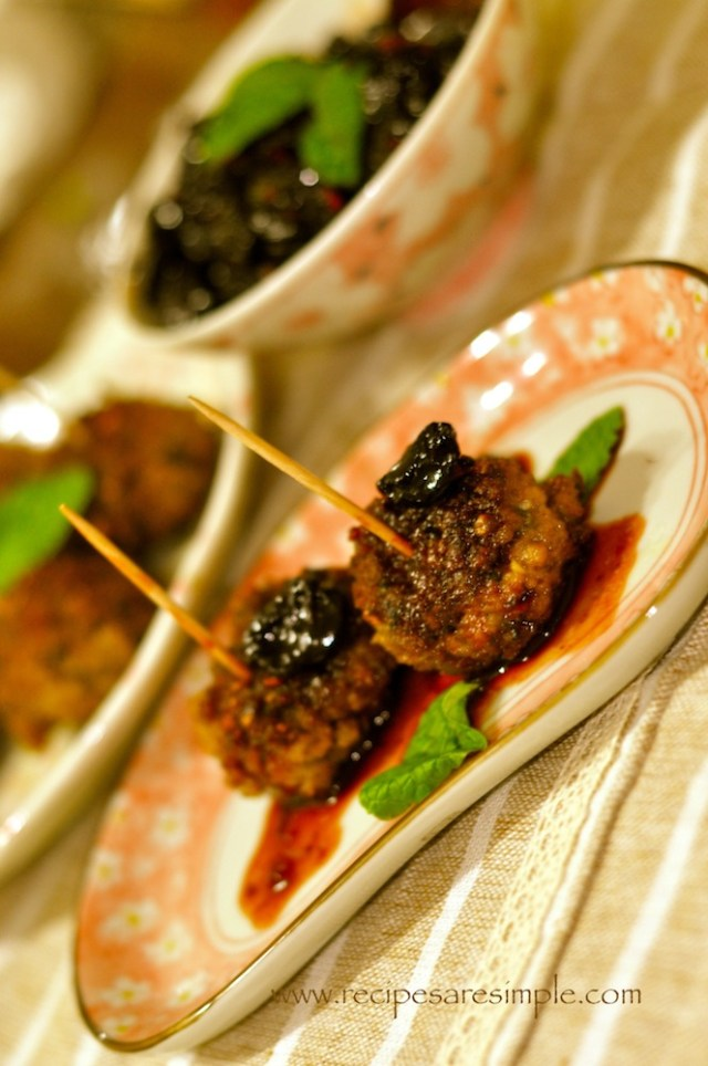 meatballs with sweet and sour cheery sauce 4