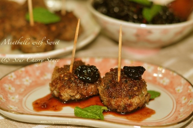 Kofta Meatballs with Heavenly Sweet and Sour Cherry Sauce