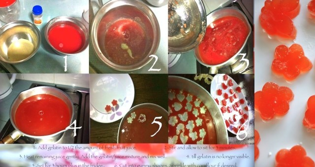 STEPS TO MAKE HOME MADE GUMMIES