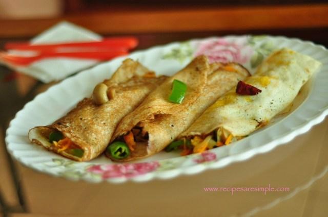 Szechuan Mushroom Dosa Wraps 2