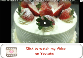 Sponge Cake with Strawberries and Whipped Cream Youtube Video