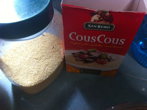 Savory Couscous ingredientS