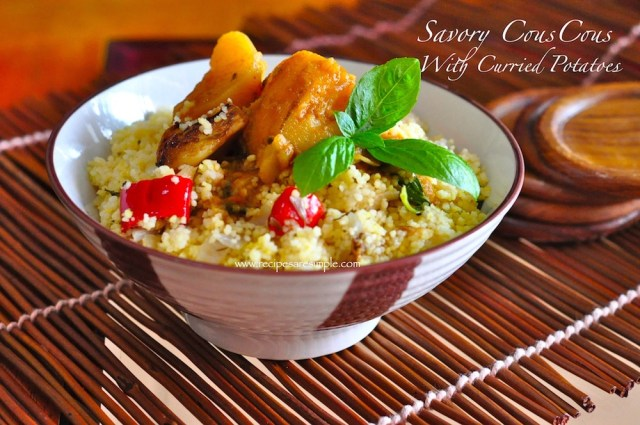 savory couscous WITH CURRIED POTATO